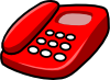 free vector Red Telephone clip art 114442