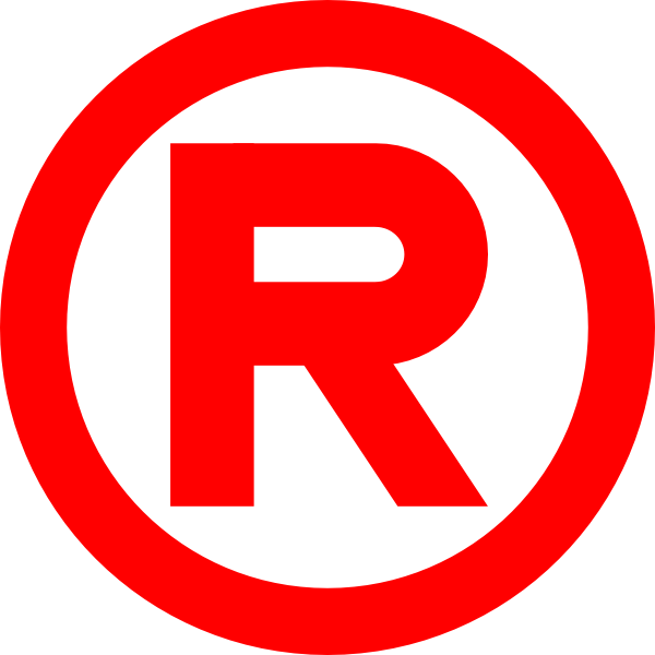 free vector Red Trademark clip art