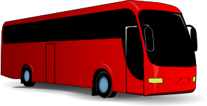 free vector Red Travel Bus clip art