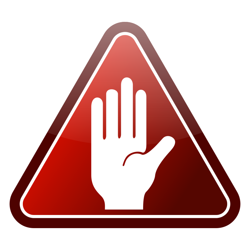 free vector Red triangle hand icon