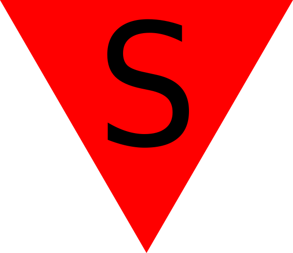free vector Red Triangle Spanish clip art