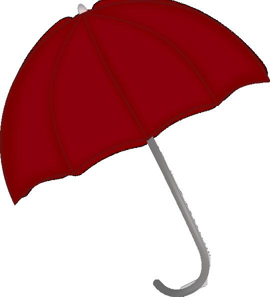 free vector Red Umbrella clip art