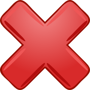 free vector Red X Cross Wrong Not clip art
