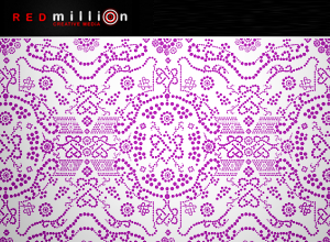 free vector REDmillionDottedPattern