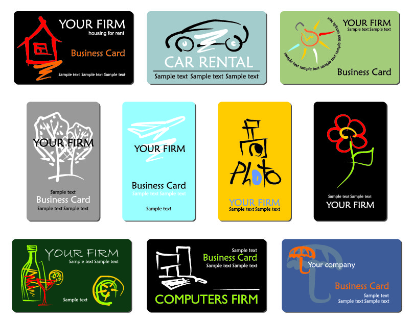 free vector Refined draft design business cards business lines 01 vector