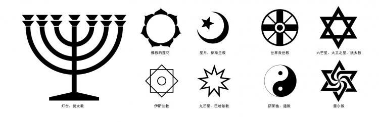 free vector Religious symbols vector