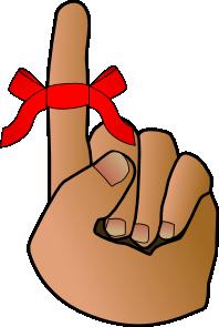 free vector Reminder-hand clip art