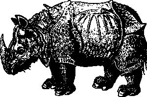 free vector Renaissance Rhino clip art