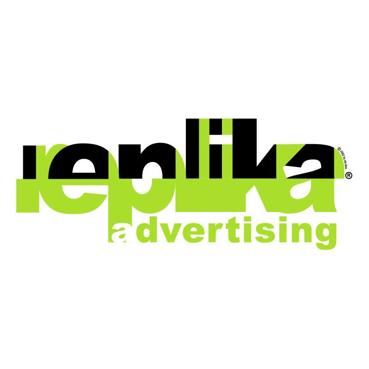 free vector Replika advertising