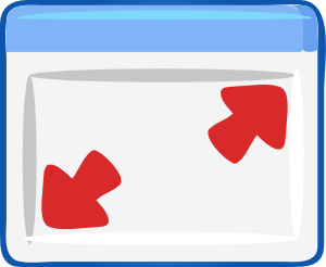free vector Resizing Dialog clip art