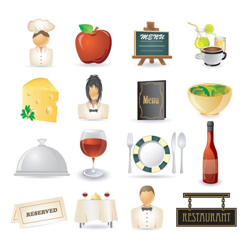 free vector Restaurant kitchen icon 02 vector