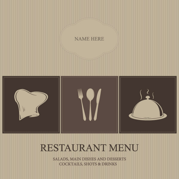 free vector Restaurant menu cover vector