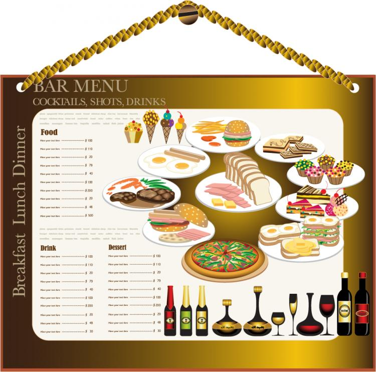Restaurant Menu Design Vector Collection : Restaurant menu design vector free