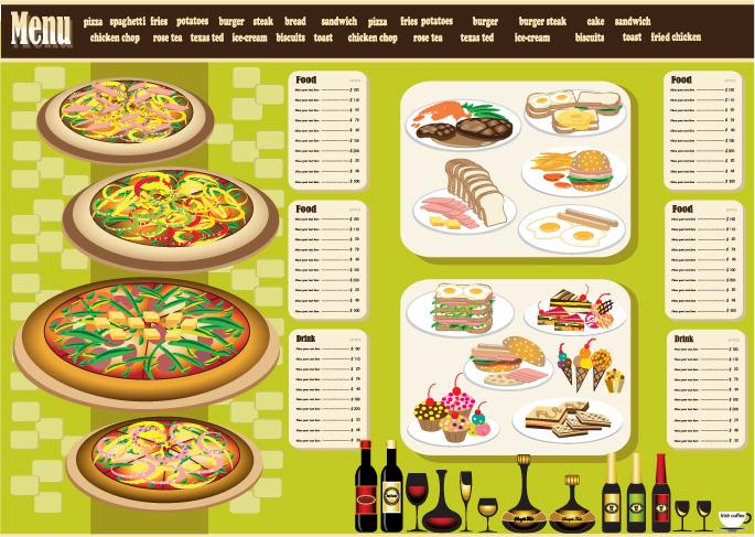 restaurant menu design 04 vector free vector 4vector