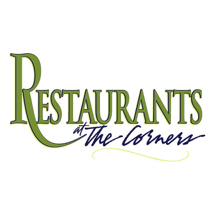 free vector Restaurants at the corners
