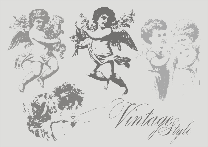 free vector Retro angel vector