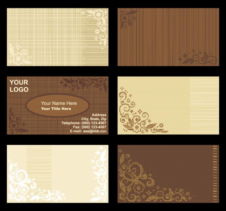 Retro background card template vector free vector 4vector for Retro business card template