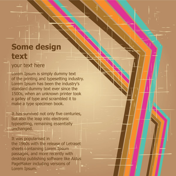 free vector Retro background vector flow lines