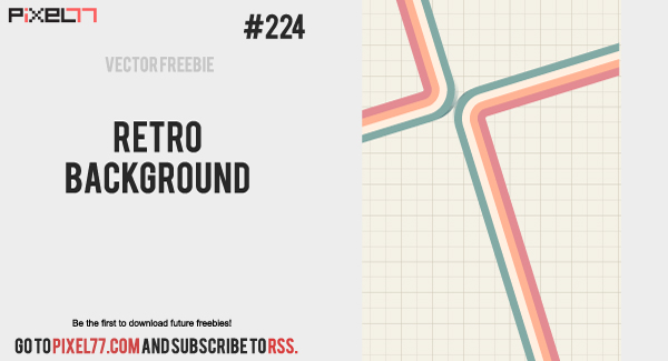 free vector Retro Background Vector - Free Vector of the Day #224