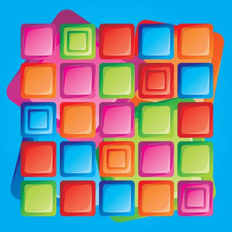 free vector Retro Design Squares