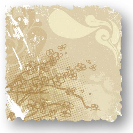 free vector Retro flower card 03 vector