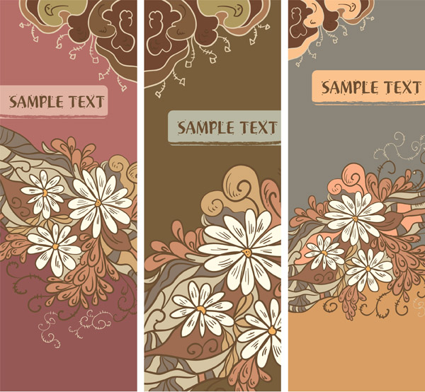 free vector Retro flower pattern vector
