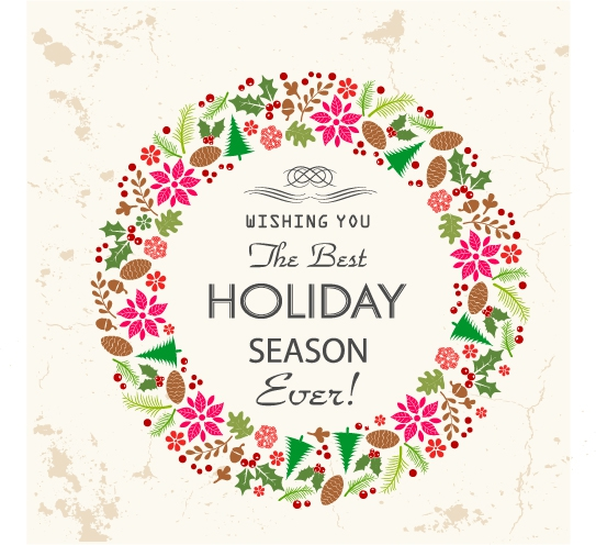 free vector Retro holiday card