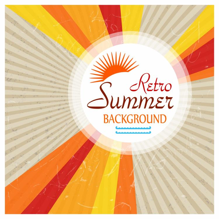 free vector Retro summer background