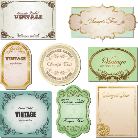 free vector Retro vector to do the old label