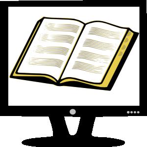free vector Rfc Book On Monitor clip art