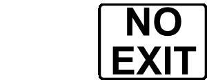 free vector Rfc No Exit Black On White clip art