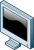 free vector Rg Isometric Lcd Screen clip art