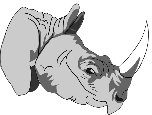 free vector Rhinoceros 3d clip art