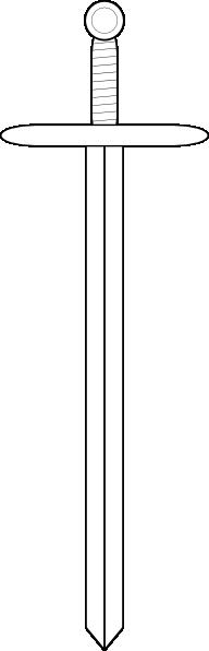 free vector Rhysfaber Sword Line Art clip art