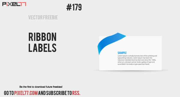 free vector Ribbon Label