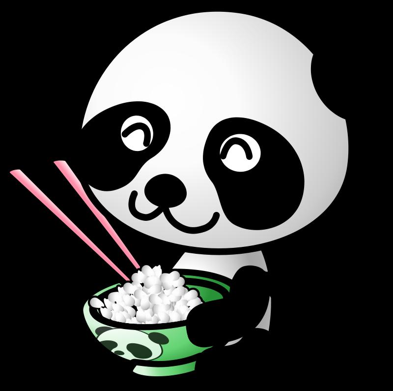 free vector Rice panda