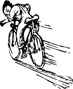 free vector Riding A Bike clip art