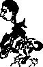free vector Riding A Bucking Bronco clip art