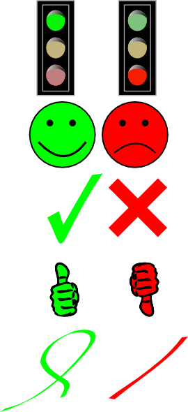 free vector Right Or Wrong Image Collection clip art