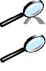 free vector Rihard Magnifying Glass clip art