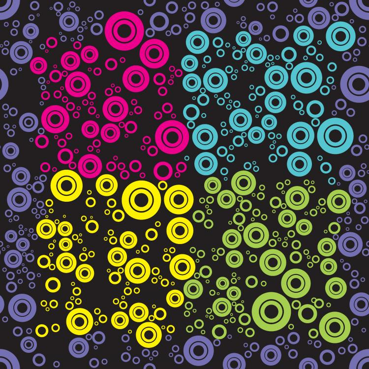 free vector Ring pattern background vector