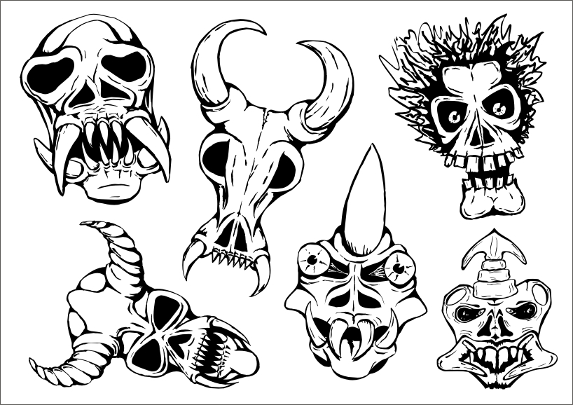 free vector Ritual masks vector