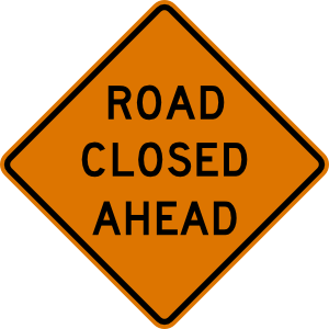 free vector Road Closed Ahead Sign clip art