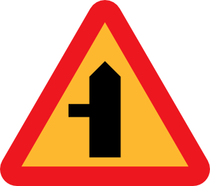 free vector Road Intersection Sign clip art