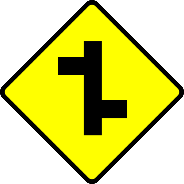 free vector Road Sign Junction clip art
