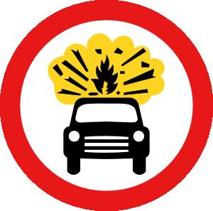free vector Road Signs Car Explosion Kaboom clip art