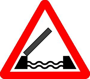 free vector Road Signs Drawbridge clip art