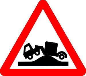 free vector Road Signs High Road Bump clip art