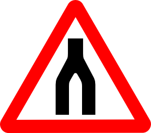 free vector Road Signs Road Split Merge clip art