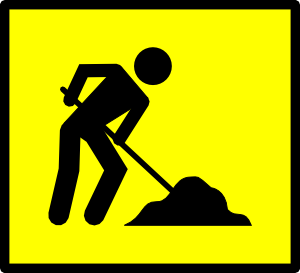 free vector Road Work clip art